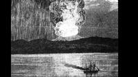 Letusan Gunung Tambora (Public Domain)