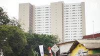 Suasana rusunami Tower Samawa Klapa Village di kawasan Pondok Kelapa, Jakarta Timur, Selasa (3/9/2019). Program rumah DP 0 Rupiah Samawa Klapa Village tersedia dalam 3 tipe, mulai dari tipe studio dengan luas 21m2 hingga 35m2 untuk tipe dua kamar tidur. (Liputan6.com/Immanuel Antonius)