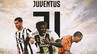 Juventus - Alvaro Morata, Moise Kean, Leonardo Bonucci (Bola.com/Adreanus Titus)