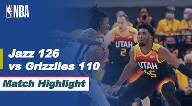 Berita video highlights game kelima babak awal wilayah barat NBA Playoffs 2021 antara Utah Jazz melawan Memphis Grizzlies yang berakhir dengan skor 126-110, Kamis (3/6/2021) pagi hari WIB.