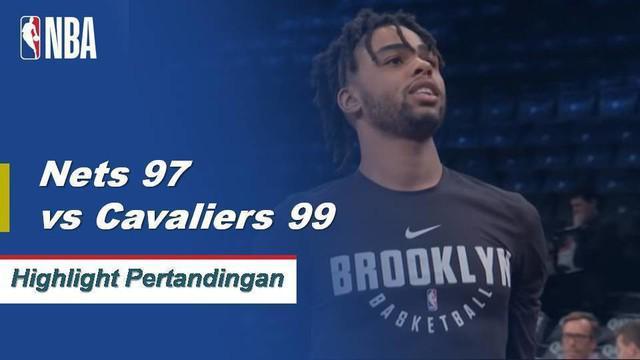 Jordan Clarkson datang dari bangku cadangan untuk mencetak 20 poin dan 11 rebound ketika Cavaliers menang melawan Nets, 99-97.