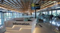 Ruang informasi untuk penumpang di Stasiun Sudirman Baru atau yang sekarang disebut Stasiun BNI City, Jakarta, Selasa (26/12). Stasiun Sudirman Baru ditetapkan sebagai stasiun pemberangkatan awal kereta Bandara Soekarno-Hatta. (Liputan6.com/Faizal Fanani)