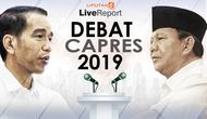 Live Report Debat Kedua Capres 2019. (Liputan6.com/Triyasni)