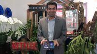 Director of Product Innovation Netflix, Ajay Arora, saat ditemui di Jakarta, Jumat (2/8/2019). (Liputan6.com/ Agustinus Mario Damar)