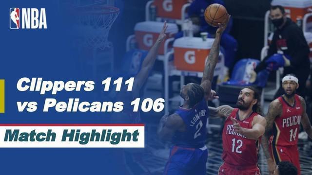Berita Video LA Clippers kalahkan New Orleans Pelicans Rabu (14/1/2021)