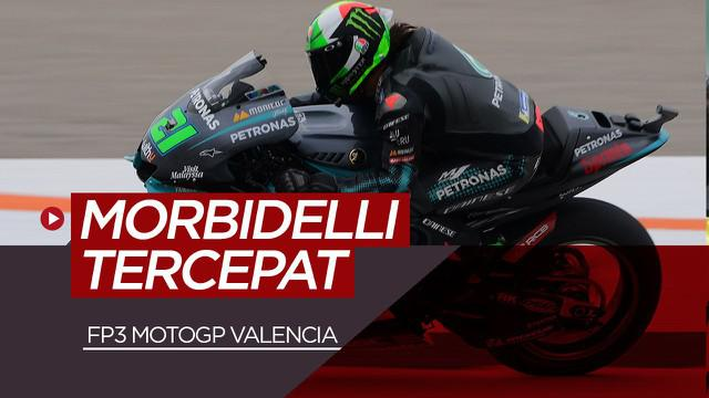 Berita video Franco Morbidelli raih pole position di FP3 MotoGP Valencia, Sabtu (14/11/20)