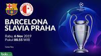 Liga Champions - Barcelona Vs Slavia Praha (Bola.com/Adreanus Titus)