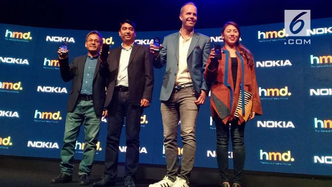 HMD Global resmi meluncurkan smartphone terbarunya, yakni Nokia 2.2. (Liputan6.com/ Linda Fahira Putri)
