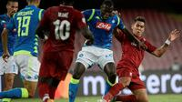 Liverpool menghadapi Napoli pada laga kedua Grup C Liga Champions, di Stadio San Paolo, Rabu (3/10/2018) waktu setempat. (AFP/Filippo Monteforte)