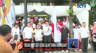 Acara dibuka langsung oleh Menteri Agama Lukman Hakim Saifuddin di depan Gedung Kementerian Agama.