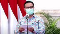 Kepala BKKBN Hasto Wardoyo menyampaikan BKKBN siap mengkoordinasikan upaya percepatan penurunan stunting saat sambutan di Istana Kepresidenan Jakarta, Kamis (18/1/2021). (Dok Badan Kependudukan dan Keluarga Berencana Nasional/BKKBN)