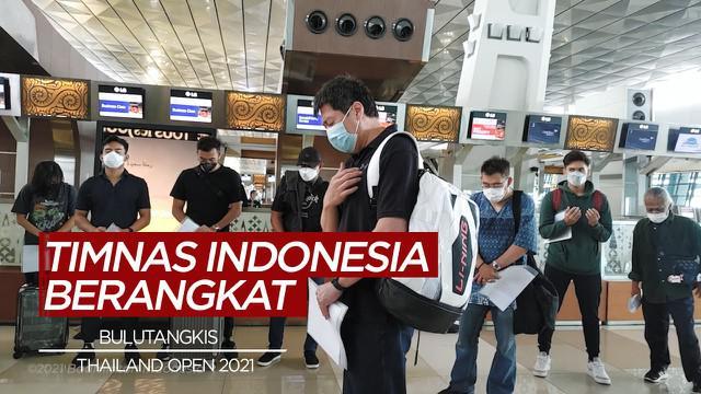 Berita Video Tanpa Kevin/Marcus, Tim Bulutangkis Indonesia Berangkat Menuju Turnamen BWF di Thailand