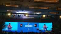 Wakil Presiden Jusuf Kalla (JK) menghadiri 'SDGs Annual Conference 2019' yang diselenggarakan oleh Bappenas di Hotel Fairmont, Jakarta.