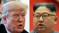Donald Trump dan Kim Jong-un (AP Photo)