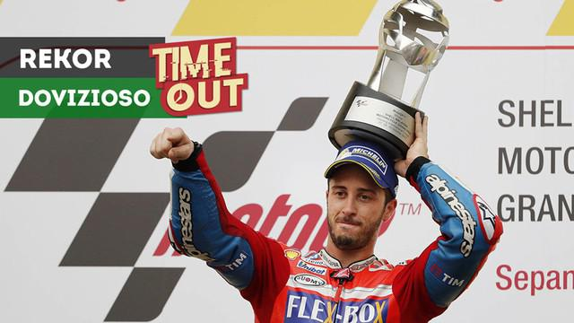 Berita video rekor pebalap tim Ducati, Andrea Dovizioso, yang tak bisa dipecahkan bahkan oleh ikon MotoGP, Valentino Rossi.