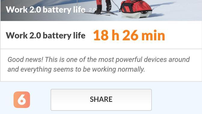 Pengujian performa baterai Redmi Note 9 Pro menggunakan PC Mark (Liputan6.com/ Agustin Setyo W)