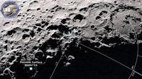 Molekul air terlepas dari permukaan bulan ketika terlalu panas dan mengapung ke daerah yang lebih dingin dari permukaannya dan atmosfernya yang tipis. (NASA)