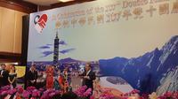 Kepala kantor Perwakilan Ekonomi dan Perdagangan Taiwan di Indonesia (Taipei Economic and Trade Office) John Chen saat membuka acara hari jadi Taiwan (Liputan6.com/Rizki Akbar Hasan)