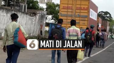 thumbnail pekerja india pulang kampung jalan kaki