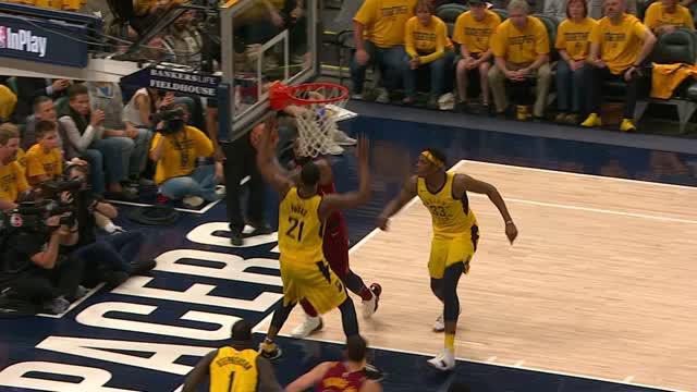 Berita video game recap NBA 2017-2018 antara Indiana Pacers melawan Cleveland Cavaliers dengan skor 121-87.