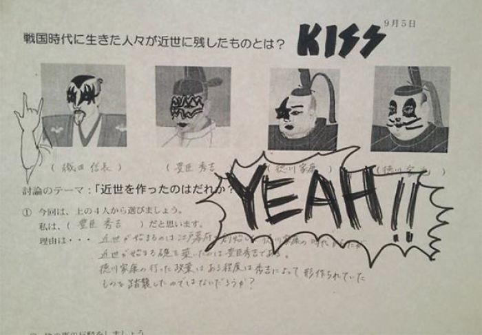 Ubah tokoh sejarah jadi personil band Kiss. Source:demilked.com