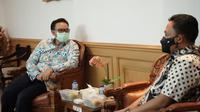 Kepala BKKBN Hasto Wardoyo menerima kunjungan Bupati Bantaeng Ilham Syah Azikin di Kantor Pusat BKKBN, Jakarta pada Selasa, 23 Februari 2021. (Dok Humas BKKBN)