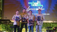 """Wali Band saat peluncuran single terbaru """"Lamar Aku"""" di live streaming Langit Musik, Jakarta, Kamis (24/10/2019) sore (Dok.Nagaswara)"""