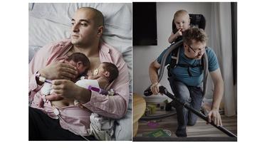 Ayah jaga anak (Sumber: Galeri Johanbavman)