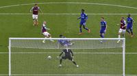 West Ham sempat unggul tiga gol lebih dulu lewat Bowen yang memanfaatkan umpan Tomas Soucek saat babak kedua baru berjalan tiga menit. (Foto: AP/Pool/Justin Setterfield)