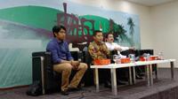 Sekjen DPD RI Diskusi dengan Wartawan di Media Center Gedung Nusantara, Kamis (30/1/2020)