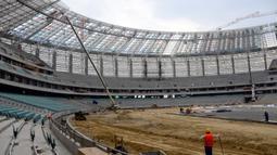 Pembangunan stadion ini dimulai pada 6 Juni 2011 dan dinyatakan selesai pada 28 Februari 2015. Dibuka dan diresmikan oleh Presiden Azerbaijan, Ilham Aliyev pada 6 Maret 2015. (AFP/Tofik Babayev)