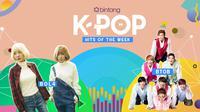 Simak selengkapnya Bintang K-Pop Hits of the Week seperti berikut ini. (Foto: kisspng, kookje, Desain: Nurman Abdul Hakim/Bintang.com)