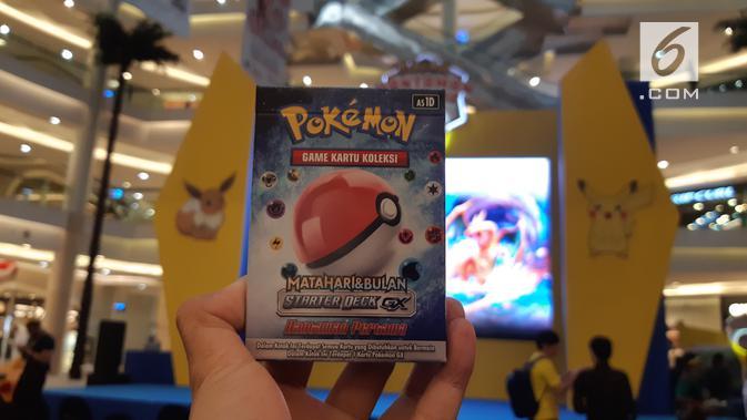 Permainan kartu Pokemon berbahasa Indonesia resmi dirilis di Jakarta, Kamis (8/8/2019), kartu gim ini bisa dibeli di Indomart seluruh wilayah Jabodetabek dengan Rp 20 ribu hingga Rp 80 ribu. (Liputan6.com/ Agustin Setyo Wardani)