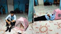 Pria Ini Kecewa Beli Tenda Saat Promo 11.11, Hanya Muat Untuk Kepala. Sumber: Sin Chew Daily