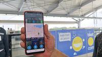 Uji coba jaringan Smartfren sepanjang jalur MRT Bundaran Hotel Indonesia hingga Lebak Bulus. Liputan6.com/ Andina Librianty