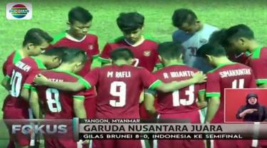Sentuhan Midas pelatih Indra Sjafri membawa Timnas Indonesia U-19 lolos ke semifinal Piala AFF U-18 2017 di Myanmar.
