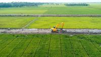 Ilustrasi luas lahan yang siap digarap para petani.