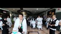 Jemaah Haji Indonesia yang akan menjalani Safari Wukuf. Husni Anggoro/MCH