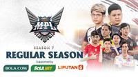 Pertandingan lengkap fase reguler MPL ID Season 7 dapat disaksikan melalui platform Vidio, laman Bola.com, dan Bola.net. (Dok. Vidio)