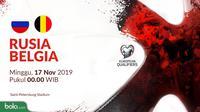 Kualifikasi Piala Eropa 2020 - Rusia Vs Belgia (Bola.com/Adreanus Titus)