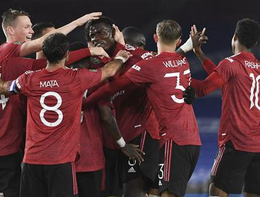Paul Pogba Cetak Gol, Manchester United Hajar Brighton 3-0 di Piala Liga Inggris