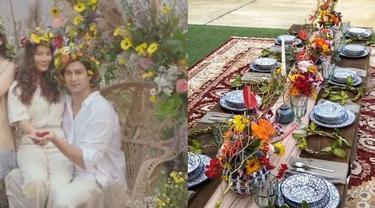 7 Potret Pesta Pernikahan Tara Basro dan Daniel Adnan, Bak Film Midsommar
