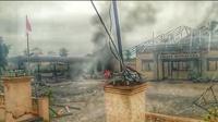 Kantor Kepolisian Sektor (Polsek) Bendahara, Kecamatan Bendahara, Kabupaten Aceh Tamiang, Provinsi Aceh dirusak dan dibakar massa, Selasa, (23/10/2018). (Liputan6.com/ Rino Abonita)