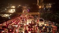 Kontingen Singapura khawatir permasalahan kemacetan di Manila dapat mengganggu para atlet yang akan berlaga di SEA Games 2019. (AFP/Noel Celis)