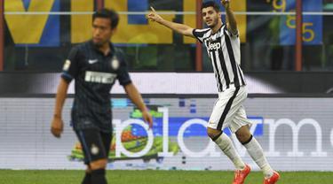 Juventus sukses memetik poin penuh di laga pekan ke-36 Liga Italia Serie A. Menghadapi Inter Milan di Giuseppe Meazza, Sabtu (16/5/2015) malam WIB, I Bianconeri menang dengan skor 1-2.