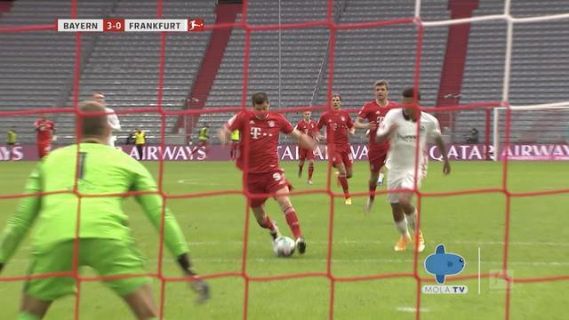 Berita video highlights Mola TV laga kemenangan Bayern Munchen atas Eintracht Frankfurt 5-0 pada pekan kelima Bundesliga 2020/2021, Sabtu (24/10/2020) malam hari WIB.