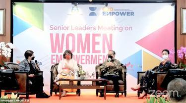 Menteri PPPA Bintang Puspayoga di depan perwakilan 27 perusahaan anggota G20 Empower Indonesia. Istimewa