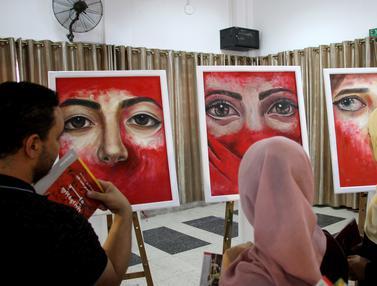 Mengungkap Kekerasan Perempuan di Gaza Lewat Lukisan