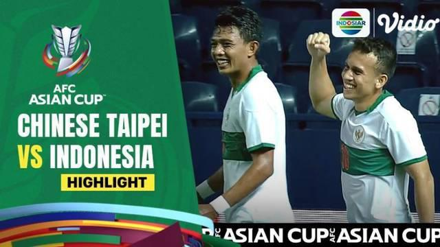 Berita video highlights kemenangan Timnas Indonesia atas Chinese Taipei 3-0 pada leg II babak play-off Kualifikasi Piala Asia 2023, Senin (11/10/2021) malam hari WIB.