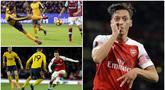 Nama Mesut Ozil kian hangat diperbincangkan lantaran Gelandang kreatif asal Jerman itu dicoret dari skuat Arsenal untuk berlaga di Liga Inggris dan Liga Europa. Terlepas dari segala polemik tersebut mari kita tengok kembali aksi Ozil bersama Arsenal.